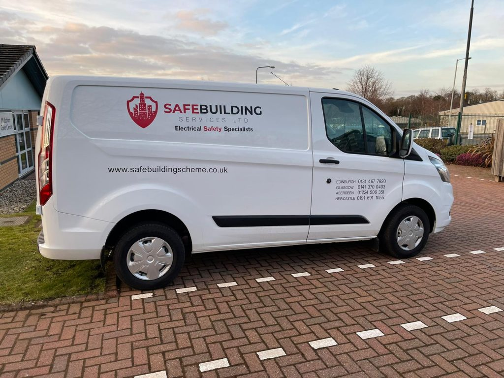 Safe Building Services Van